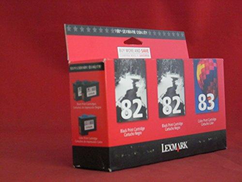 Lexmark 82/82/83 (18L1060) Black/Color Ink Cartridges 3/Pack