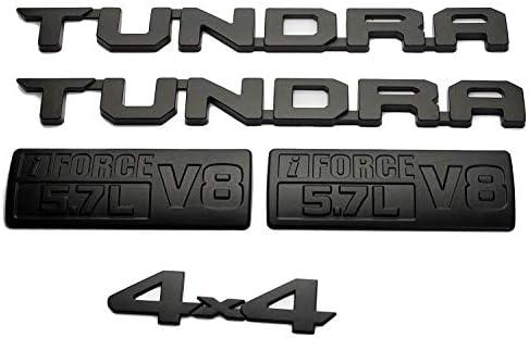 SELLING FREAK! Matte Black Set Set 2013-2018 Tundra TRD PRO i Force V8 5.7L Door Emblems Badges Namplates Tailgate Badge Sticker for Toyota