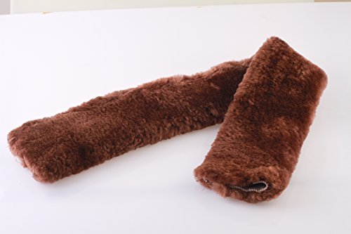 VAST Merino Sheepskin Fleece Girth Cover Brown 28 Inch Gc/072-bn (Fleece Girth Cover)