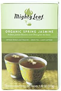 Mighty Leaf Tea, Organic Spring Jasmine, 15-Count Whole Leaf Pouches (Pack of 3), Garden, Lawn, Maintenance