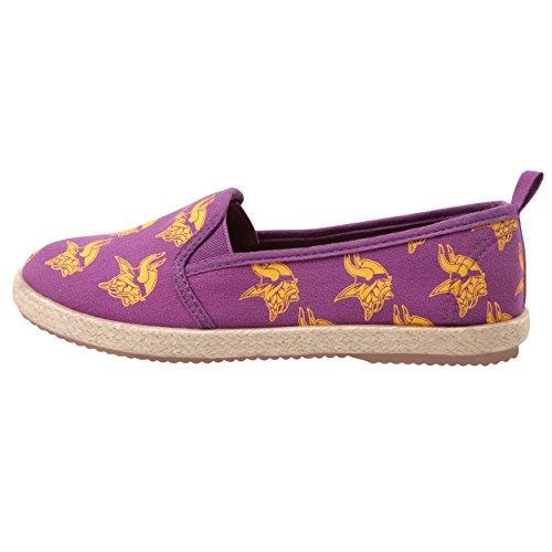 FOCO Minnesota Vikings Espadrille Canvas Shoe - Womens Large - Minnesota Vikings Shoe