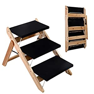 Amazon New Portable Folding 2 in 1 Wooden Pet Ramp
