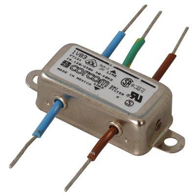 Corcom 1VB3 Power Line Filter, Flange Mount, 1 Amp