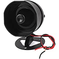 uxcell DC 12V 10W 110dB Decibel Metal Safety Motor Horn Siren Buzzer ML-10