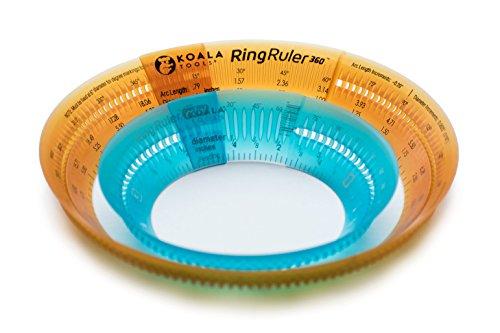 Koala Tools | Ring Ruler Combo Pack - Circle Stencil & Templates Tools | 1- 3.5 & 3 - 6 Adjustable Diameter - Geometric Tool for Drawing Circles