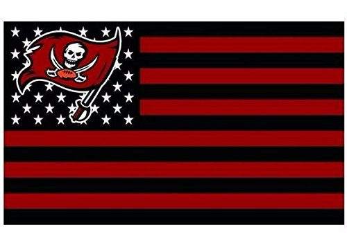 Tampa Bay Buccaneers Wall Hanging - NFL Tampa Bay Buccaneers Stars and Stripes Flag Banner - 3X5 FT - USA FLAG