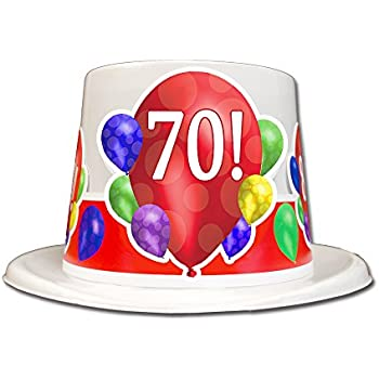70TH BIRTHDAY BALLOON BLAST TOP HAT EACH