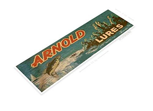 PosterGlobe Poster B652 Arnold Lures Retro Rustic Fishing Fish Bait Tackle Marina Shop Cave 6