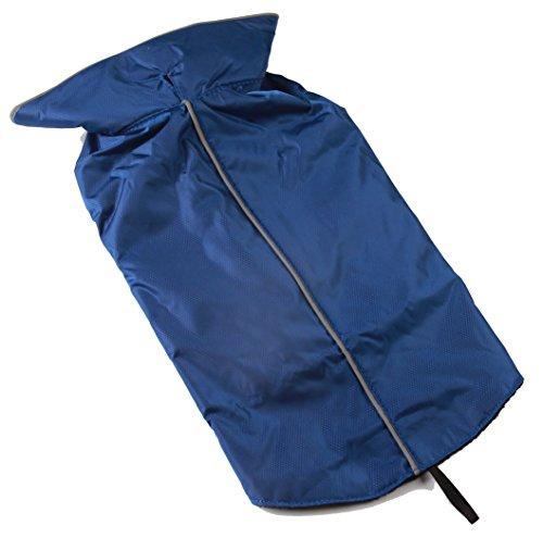JoyDaog Fleece Lined Warm Dog Jacket for Winter Outdoor Waterproof Reflective Medium Dog Coat Blue L ()