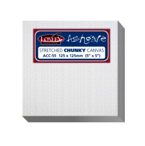 Loxley - Tela per belle arti Ashgate, 12,7 x 12,7 cm, spessore: 36 mm, colore bianco 7cm spessore: 36mm Colourfull Arts ACC-55