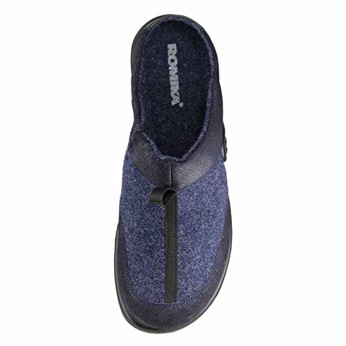 Romika Maddy H 11 - Damen Hausschuhe - Blau Schuhe in Übergrößen Dunkelblau