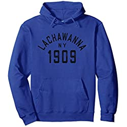 Unisex Retro Lackawanna NY Sweatshirt Hoodie New York 1909 City USA XL: Royal Blue