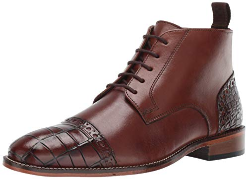 STACY ADAMS Men's Franco Cap Toe Lace-Up Chukka Boot, Scotch, 15 M US