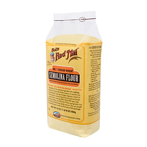 Bobs Red Mill Semolina Pasta Flour - 24 oz - Case of 4 - Ideal solution for homemade Italian-style pasta