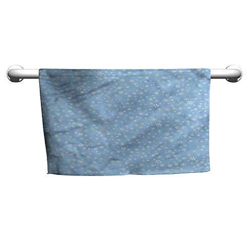 (flybeek Premium Winter,Cute Snowflakes Falling,Beach Poncho Towel for Kids)