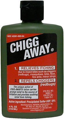 5. Humco Chigg-Away, The Soldier's Choice, Relieves Itching and Repels Chiggers, 4 fl oz (Pack of 2)