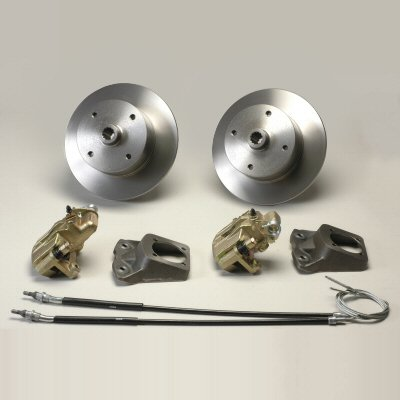 Rear 4 Lug Vw 130Mm Bolt Pattern Long Axle Disc Brake Kit With Emergency Brake For 1973-1979 Beetles by Pacific Customs