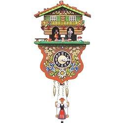 Alexander Taron Importer 235SQ Black Forest Weather House Chalet Clock