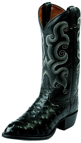 Men's Tony Lama 13 inch Full Quill Ostrich Western Boots,...