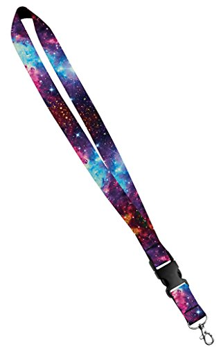 Moose Pet Wear Fashionable Lanyard - Satin Keychain Necklace, ID Badge Holder- 1 Inch, Universe