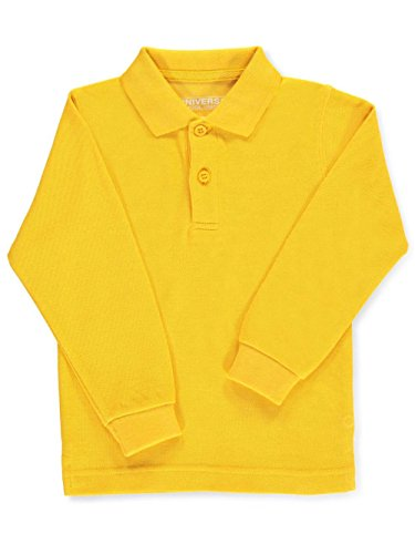 Universal Unisex L/S Pique Polo - Gold, 10 by Universal