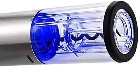 XJYZ Juego De Sacacorchos Eléctrico para Vino, para El Hogar, Abridor De Vino, Sacacorchos Automático De Acero Inoxidable con Cortador De Papel para Vino, Tapón De Vino, Aireador, Vertedor