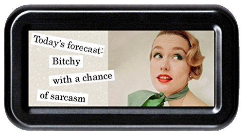 Today's Forecast: Bitchy with a Chance of Sarcasm Funny Retro Tampon ()
