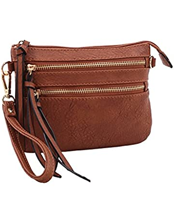 7b5092f7 DELUXITY Everyday Multi-Pocket Crossbody Bag with Removable Wristlet and  Strap