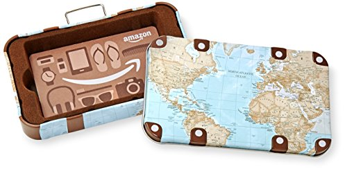 Amazon.com Gift Card in a Vintage Luggage Tin