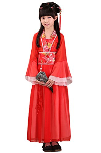 [Bysun girls's costume Han Chinese clothing Red130] (Han Chinese Costume)