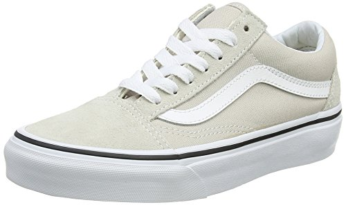 2ac97a2ab2 Galleon - Vans Unisex Adult Old Skool Silver Lining True White VN0A38G1QA3 Men s  Size 5.5