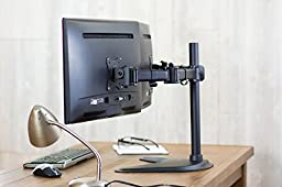 VIVO Dual Monitor Mount Stand Fully Adjustable Desk Free-Standing for 2 LCD Screens Up To 27\