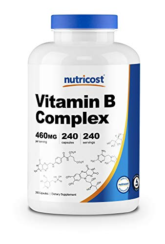 Nutricost High Potency Vitamin B Complex 460mg, 240 Capsules – with Vitamin C – Energy Complex