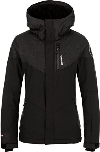 O'Neill Women's Coral Jacket, Black AOP with Pink, Large ()