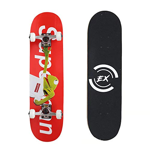 """Pro Skateboard 31"""" X 8"""" Standard Skateboards Cruiser Complete Canadian Maple 11 Layers Double Kick Concave Skate Boards"""