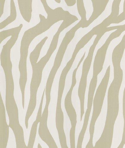 Brewster 405-49475 National Geographic Home Congo Taupe Zebra (Zebra Stripes Wallpaper)