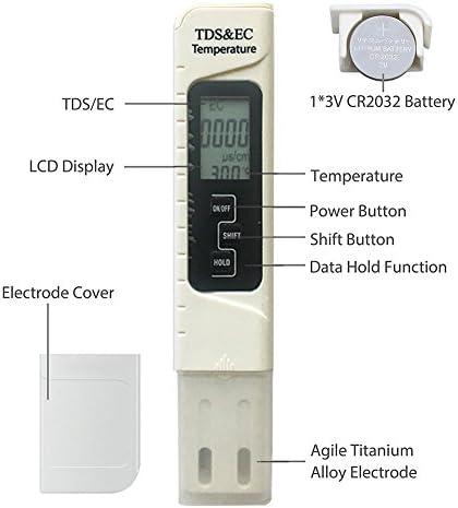 Profesional TDS EC Probador Medidor de pH Digital Temp PPM ...