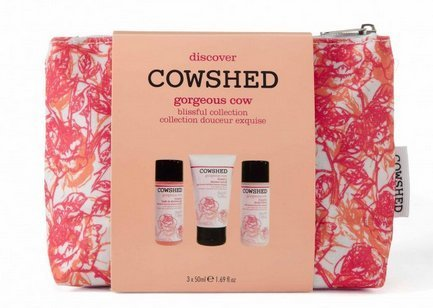 Gifts & Sets by Cowshed Gorgeous Cow Blissful Discovery Bag - Bath and Shower Gel 50ml, Body Scrub 50ml & Body Lotion 50ml by Cowshed -