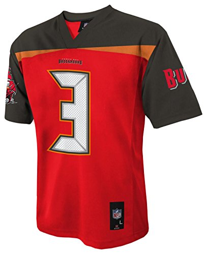 NFL Tampa Bay Buccaneers Boys Player Fashion jersey, Red, Large (14-16)