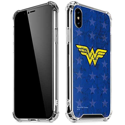 - Skinit Wonder Woman Emblem iPhone Xs Max Clear Case - Officially Licensed Warner Bros Phone Case Clear - Transparent iPhone Xs Max Cover