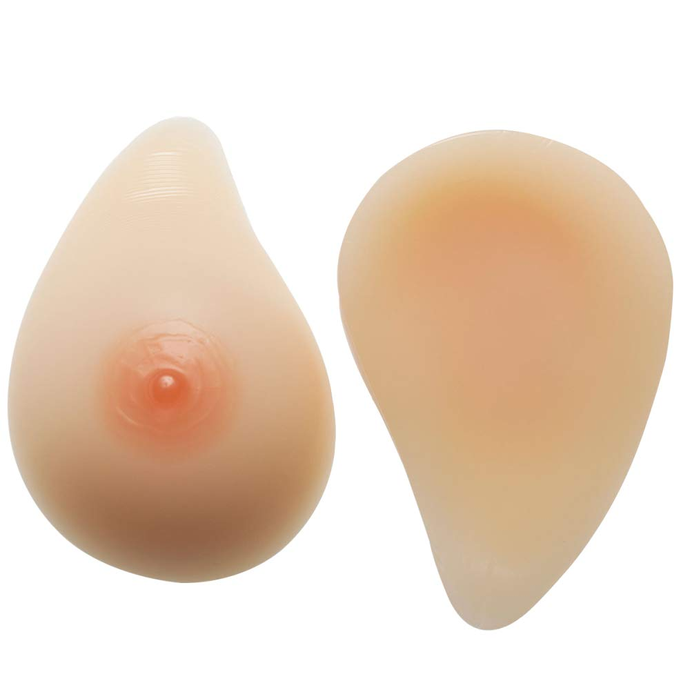 SkincolorSelfAdhesive MZX Breast Prosthesis Silicone Prosthesis Silicone Breast Water Drop Shape Fake Chest