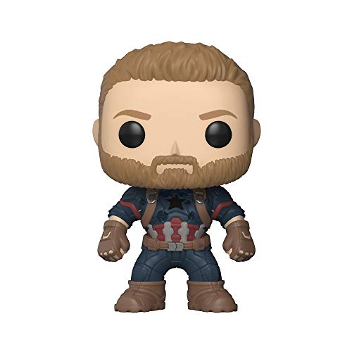 Funko Pop- Pop Marvel Avengers Infinity War-Captain America Figura De Vinilo, Multicolor, Talla Unica (26466)