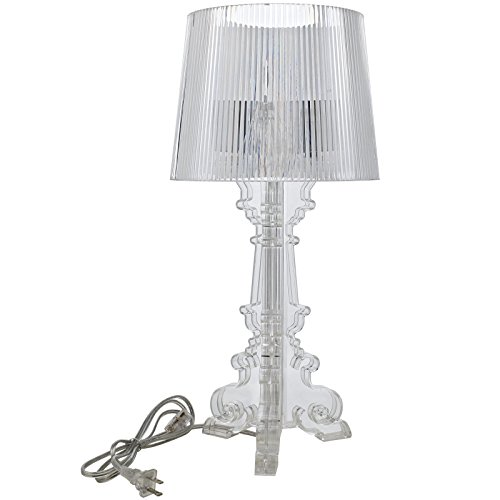 Modway French Petit Table Lamp, Clear
