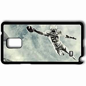 Personalized Samsung Note 4 Cell phone Case/Cover Skin American Football Athlete Helmet Jump Ball Black