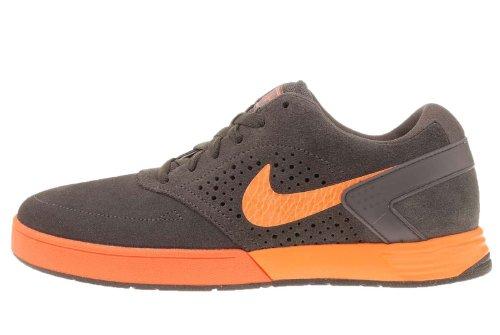 Nike 6.0 Skate (Nike 6.0 Paul Rodriguez 6 Grey Orange Lunar Skate Boarding Shoes 525133-080 [US size 7.5])