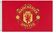 Manchester United FC Flag (One Size) (Red)