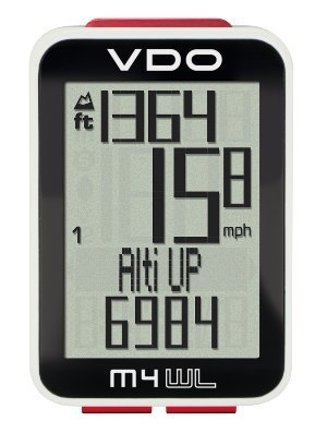 Vdo Computers - VDO M4 Wireless Barometric Altimeter Super Durable Large Backlight Display Four-part display Sensor Data Transmission Digital Bicycle Computer