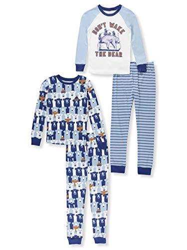 Carter's Boys' 4-Piece Snug Fit Cotton Pajamas (Blue/The Bear, 4)