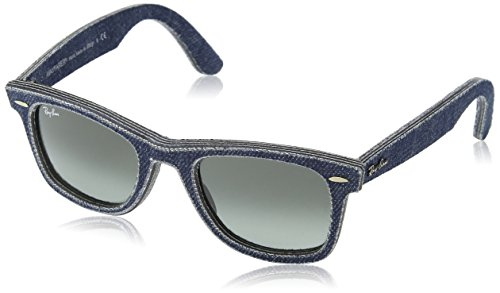 Ray-Ban Original Wayfarer Sunglasses (RB2140) Blue/Grey Cloth/Denim - Non-Polarized - - Rb2140 Blue