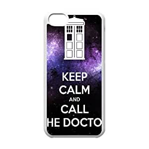 iPhone 5c Cell Phone Case White Keep Calm Call Doctor Personalized Cheap Phone Case Cover CZOIEQWMXN25385